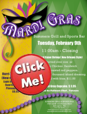 Join us for Mardi Gras at Summers!